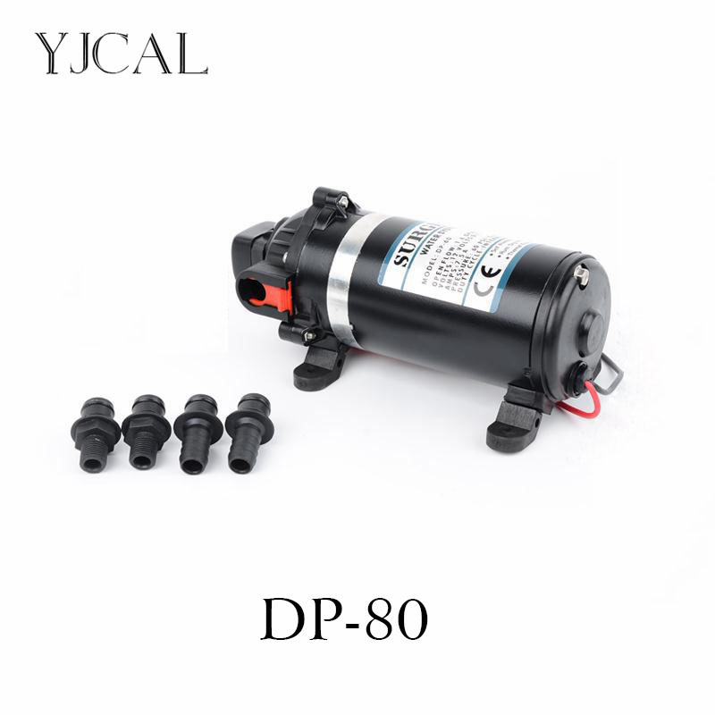 Water Booster Fountain DP-80 12v High Pressure Diaphragm Pump Reciprocating Self-priming For RV Yacht Aquario Filter Accessories the reciprocating pump