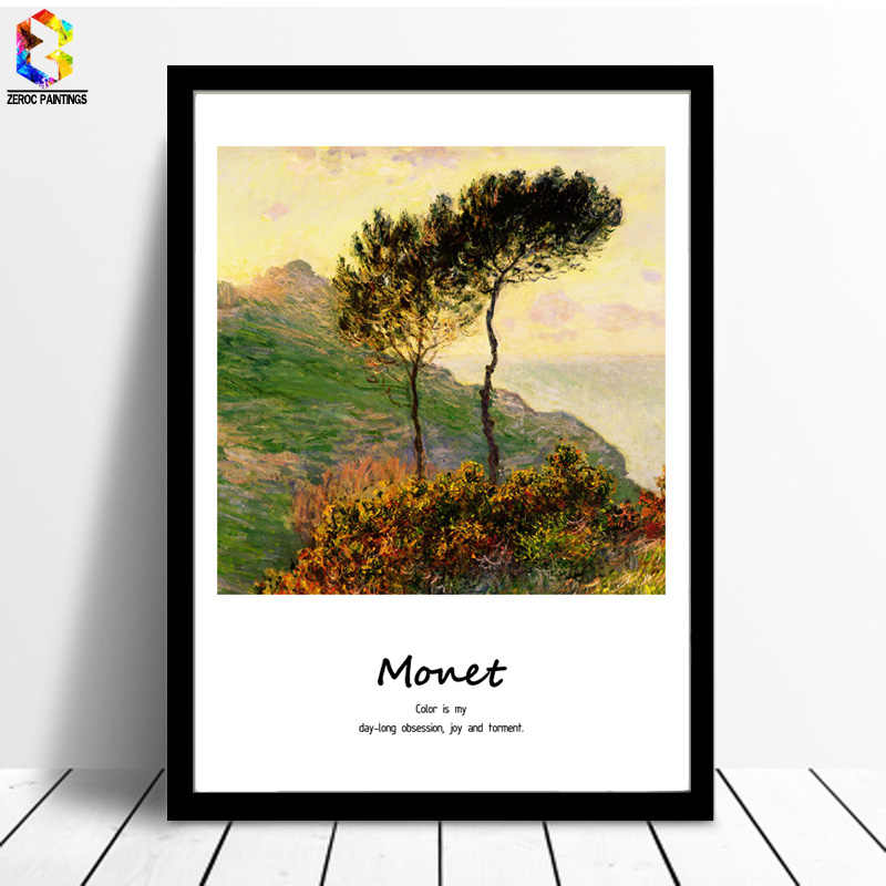Monet Famous Painting Canvas Art Print Poster Wall Picture for Living Room Decoration Abstract Home Decor