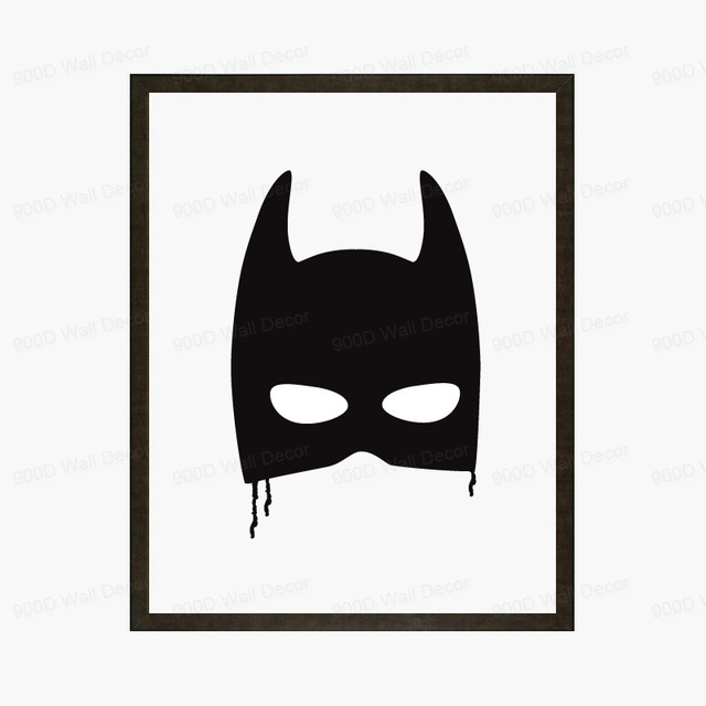 Vintage Batman Canvas Art Print Poster, Wall Pictures for Home ...
