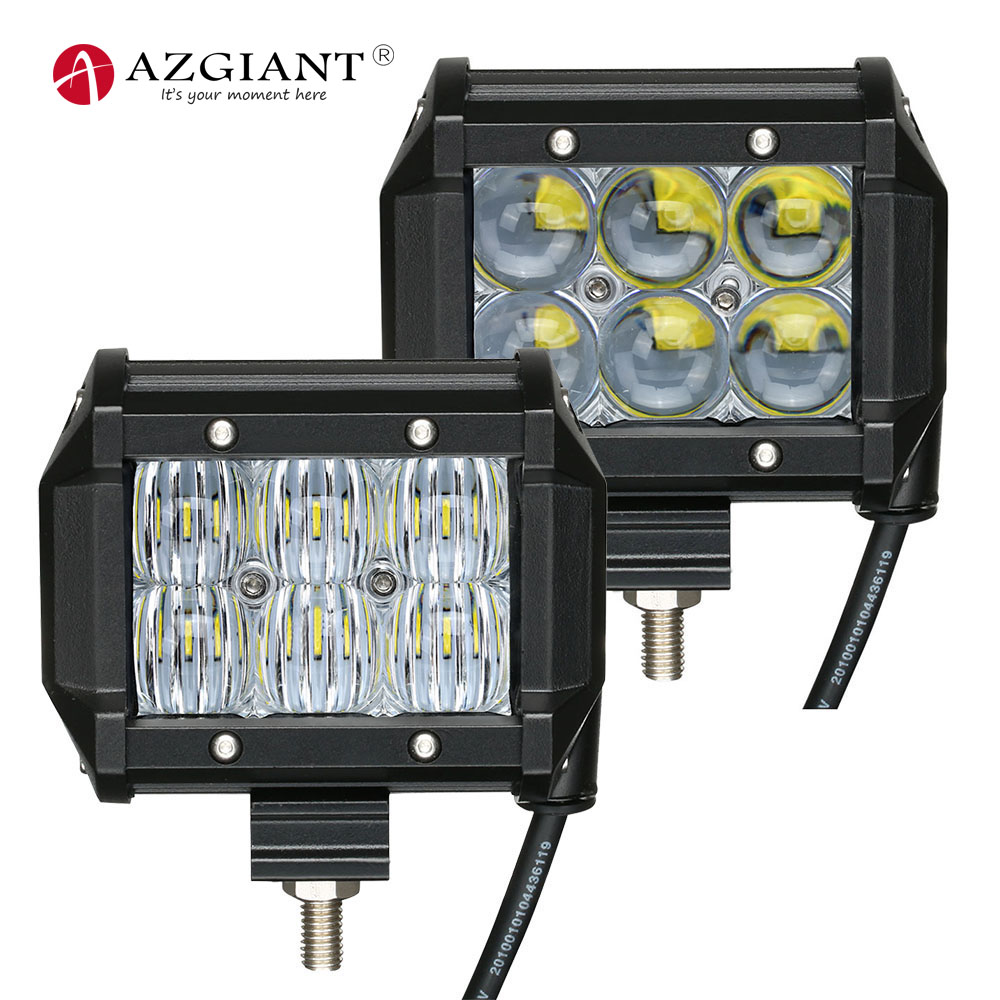 AZGIANT 4 5D Car led work light bar IP67 Waterproof 6000K Flood Beam Lamp for Off Road Vehicle lighting,Boat & Marine Lighting image