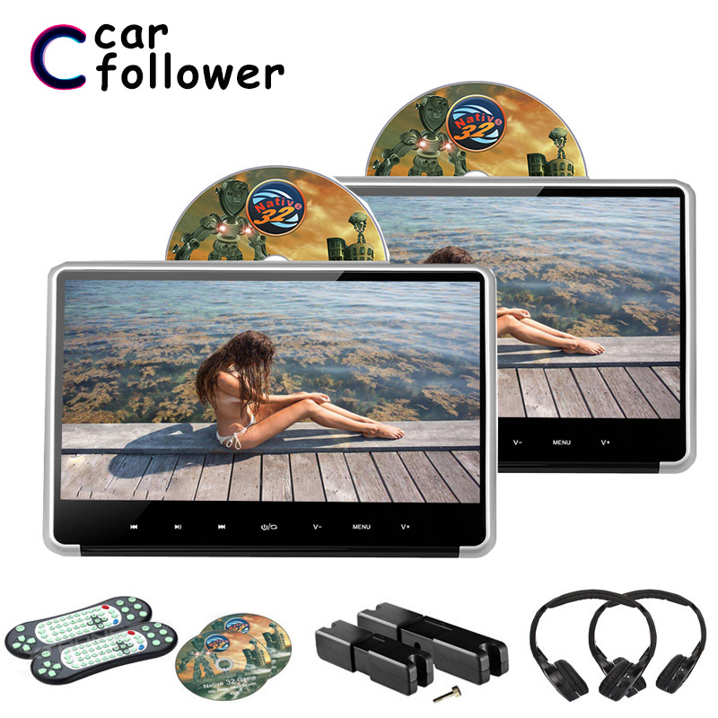 2PCS 11.6 Inch Car Video Player HD 1080P IPS Touch Button DVD Player MP5 With HDMI/FM/IR/USB/SD/Game/Speaker Car Monitor(China)