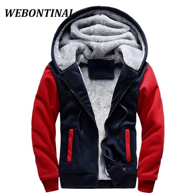 WEBONTINAL зима толстовка Для мужчин балахон мужской пальто с капюшоном брендовая Повседневное молния Сгущает Бархат moleton masc Человек спортивный костюм