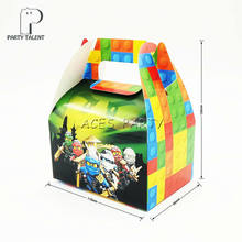 8pcs/lot Candy Box Cake Box for Kids Ninja Theme Party Baby Shower Party Decoration Party Favor Supplies(China)