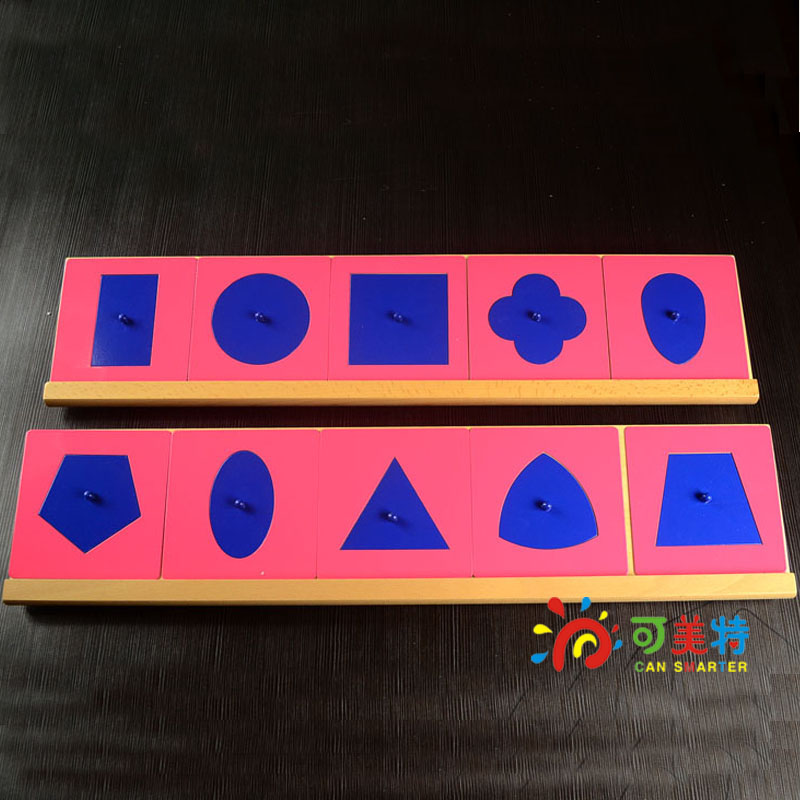 Montessori Education Geometric Inlay Steel Boards Ten Types  Beech Wood  Math toys Early educational toys montessori materials paper for geometric inlay steel boards beech wood math toys early education toy can smarter freee shipping