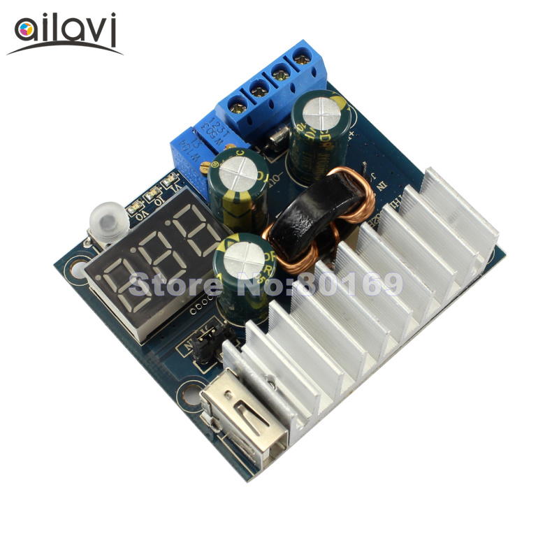 100W DC Constant Current Boost Module USB Output 3-35V Adjustable Power Supply Converter 6A With Voltage/Current Digital Display