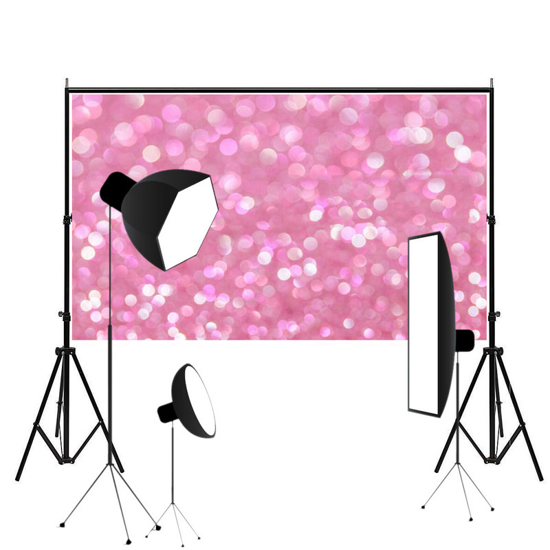 Mayitr 5X7ft Vinyl Pink Bubble Photography Backdrop Waterproof Glitter Studio Photo Background For photography party bar 5 x 7 ft pink love hearts print photo backdrop for wedding party portrait photography studio background s 1305
