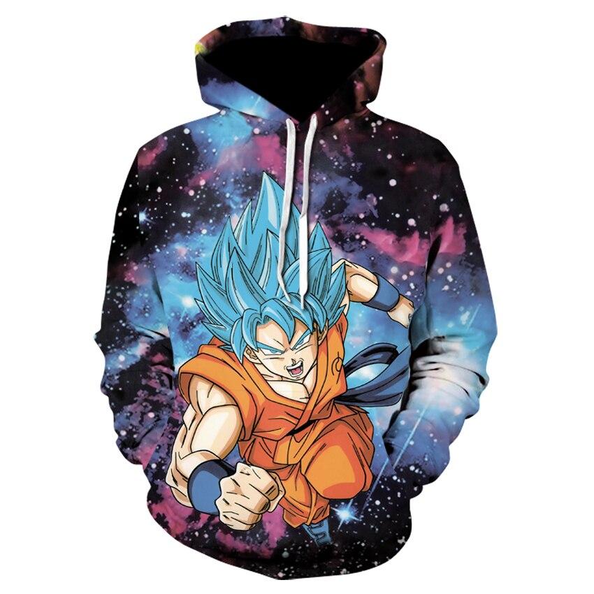 Dragon Ball Z Hoodies 3D Imprimé Pulls Sweat-Shirts Sportswear Dragonball Super Saiyan 4 Fils Goku Noir Zamasu Manteau Outfit