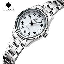 2017 New Brand Women Quartz Watches Number Dial 30m Waterproof Stainless Steel Women Wristwatches High Quality