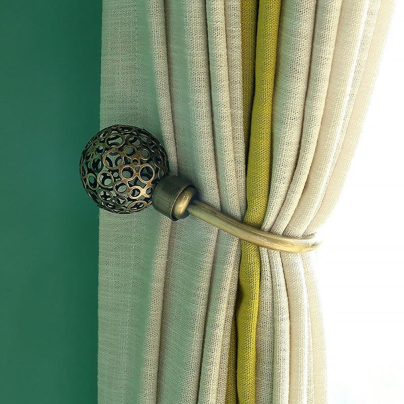 Nieuwste Collectie Van Metalen Gouden Gordijn Houder Gordijn Decoratieve Accessoires Luxe Gordijn Kwastje Tieback Cortina Houders Qt014-30