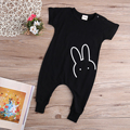 2016 Autumn Baby Boys Girls Romper Fashion Rabbit Short Sleeve Toddle Kids Rompers Jumpsuit