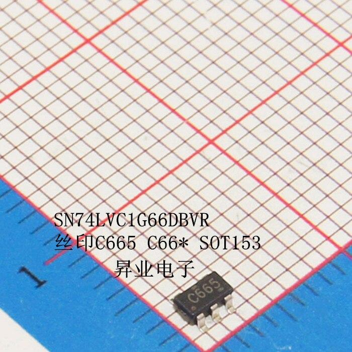 10 шт. /лот SN74LVC1G66DBVR C665 SOT23-5 Настенные переключатели Новый оригинал