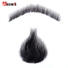 AOSIWIG 5 Style Weave Fake Beard Man Mustache Makeup for Film Television Makeup Real Fancy Facial Hair Cosplay Party(China)