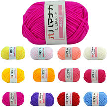 25g / pc Colorful Soft Baby Milk Fiber Cotton Yarn Woolen Velvet Crochet Hand Knitting DIY Sweater Blanket Scarf 2019(China)