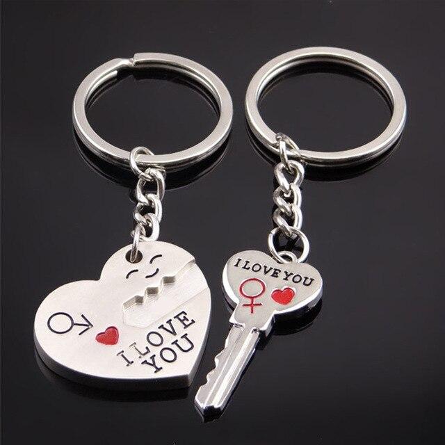 5af10ef4fe 2018 Romantic Lover's Keychain Arrow Key Couple Keychains Keyring  Girlfriend Boyfriend Gifts