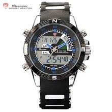 Porbeagle SHARK Sport WatchNew Men Fashion Digital Date Stop Multifunction 3ATM Waterproof Rubber Strap Relogio Masculino /SH044