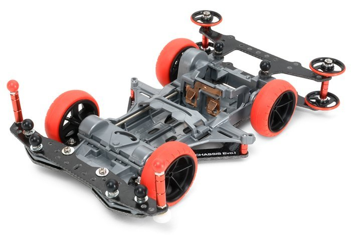 DIY TAMIYA 4WD Car Model MINI 4WD VS CHASSIS EVO.1 94734 1set super fm sfm evo ver 2 reinforcing carbon fiber chassis plate upgrade spare parts for tamiya mini 4wd car model