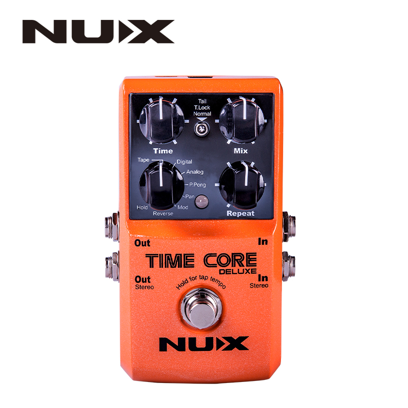 NUX Time Core Deluxe Delay Pedal Guitar Effect Pedal with Looper Tone lock True Bypass Upgrade mode nux metal core distortion effect pedal true bypass guitar effects pedal built in 2 band eq tone lock preset function guitar part