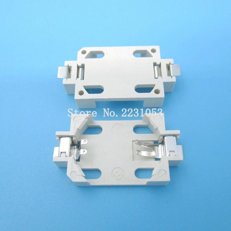10PCS/LOT Battery Button Cell Holder Socket Case CR2032 2025 2016 cr2032 battery holder 2032 SMD BS-6 100pcs cr2032 2032 battery button cell coin holder socket case black
