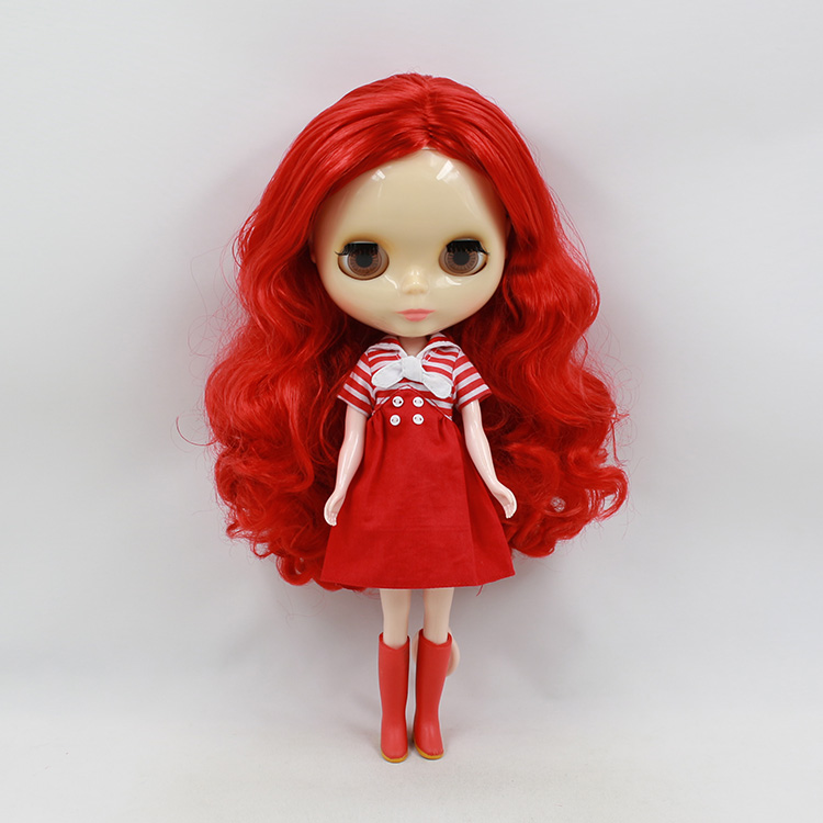 Free shipping Blyth doll diy toys Red long hair birthday dolls collectible blyth dolls for sale 6x super mario super size figure collection mario luigi yoshi toad loose toy apl008004a 2017 free shipping