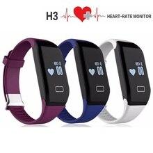 H3 умный Браслет Heart Rate Мониторы Bluetooth 4.0 шагомер спортивные Фитнес трекер smartband для iOS iPhone Android