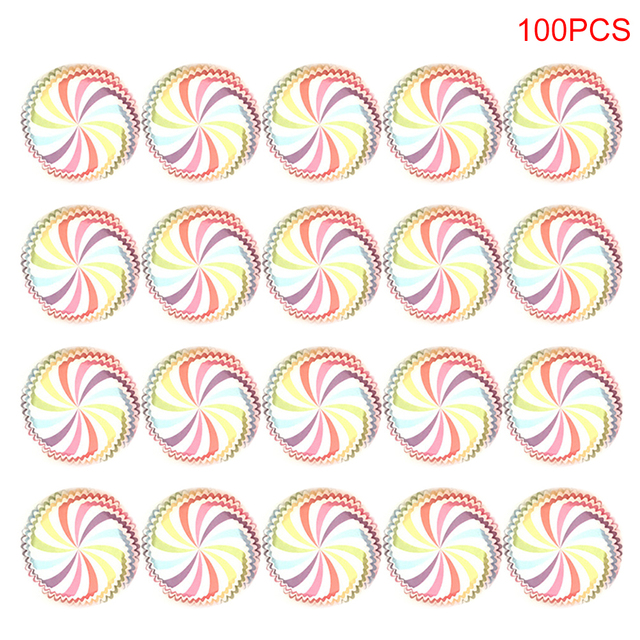 100Pcs Food Grade Round Shape Muffin Cases Paper Cake Cupcake Liner Baking Mold Bakeware Maker Cake Mold Tray TSLM2