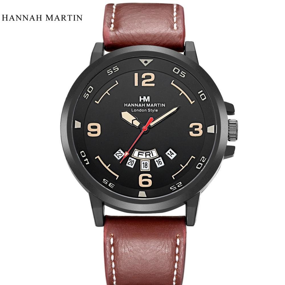 Marca de lujo Hannah Martin Hombres Relojes Deportivos Hombres Cuarzo - Relojes para hombres - foto 2