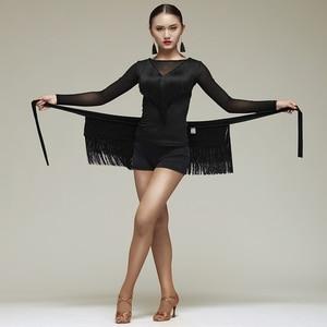 Image 3 - New Latin Dance Skirt Women Tassels Apron Costume Training Hip Scarf Cha Cha Samba Dancing Waist Towel Latin Accessories DN1191