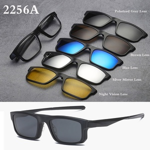 Image 4 - Belmon Spektakel Rahmen Männer Frauen Mit 5 PCS Clip Auf Polarisierte Sonnenbrille Magnetische Gläser Männliche Myopie Computer Optische RS543