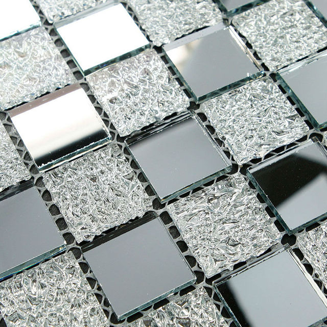 crystal glass tiles sheet diamond mosaic art wall sticker kitchen