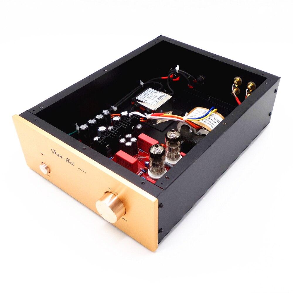 Versión mejorada Fax X-10d 12AU7/6N11 tubo de vacío preamplificador (con filtro de fuente de alimentación estable e independiente) Kit de alarma para cocina, DETECTOR de GAS por voz, alarma independiente para la UE, pantalla LCD Natural, SENSOR de fugas de GAS con alarma