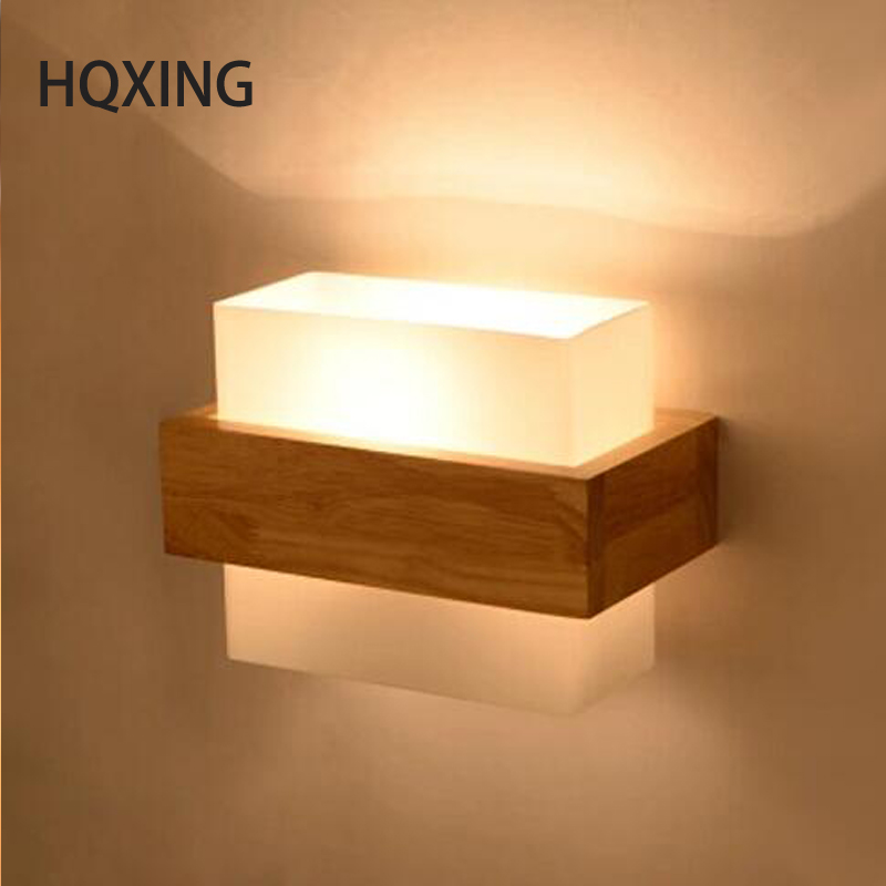 HQXING Northern Europe Style aplik Wood LED Wall Light Lamps For Home Lighting,Wall Sconce Arandela Lamparas De Pared concise style modern wall light lamp led for home lighting wall sconce arandela lamparas de pared