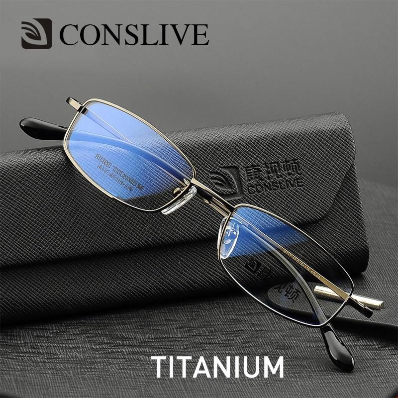 Men Optical Glasses Frames Small Titanium Eyeglasses Severe Myopic Astigmastism Titanium Glass Spectacle Frame For Man T8117