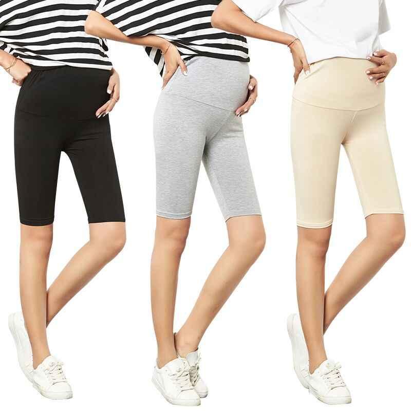 מודאלי יולדות חותלות בהריון נשים סקיני מכנסיים סקסי טלאי צועד כושר Slim קצוץ מכנסיים בתוספת גודל L-3XL