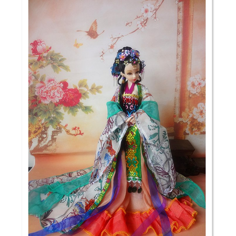 Traditional Chinese Dolls Collectible Toys for Children/Friends,12 Inch Antiques Chinese Girl Dolls with Joint Body Good Quality 35cm collectible chinese dolls ancient costume summer girl dolls with 12 joints movable vintage season series bjd doll toys gift