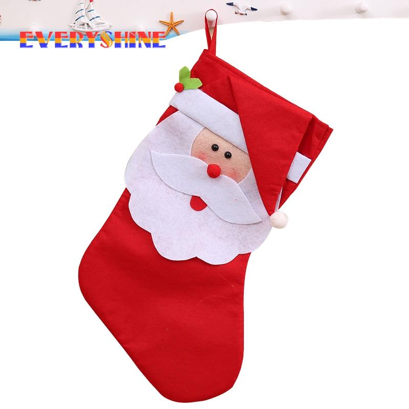 christmas home decorations for big christmas santa claus stockings christmas tree hanging ornaments socks adornos navidad sd46 in stockings gift holders - Big Stockings For Christmas