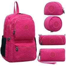 54f8dc13b 2019 Casual mochila 100% Original Kiple bolsa mochila escolar para chica  adolescente Mochilas Mujer con mono llavero