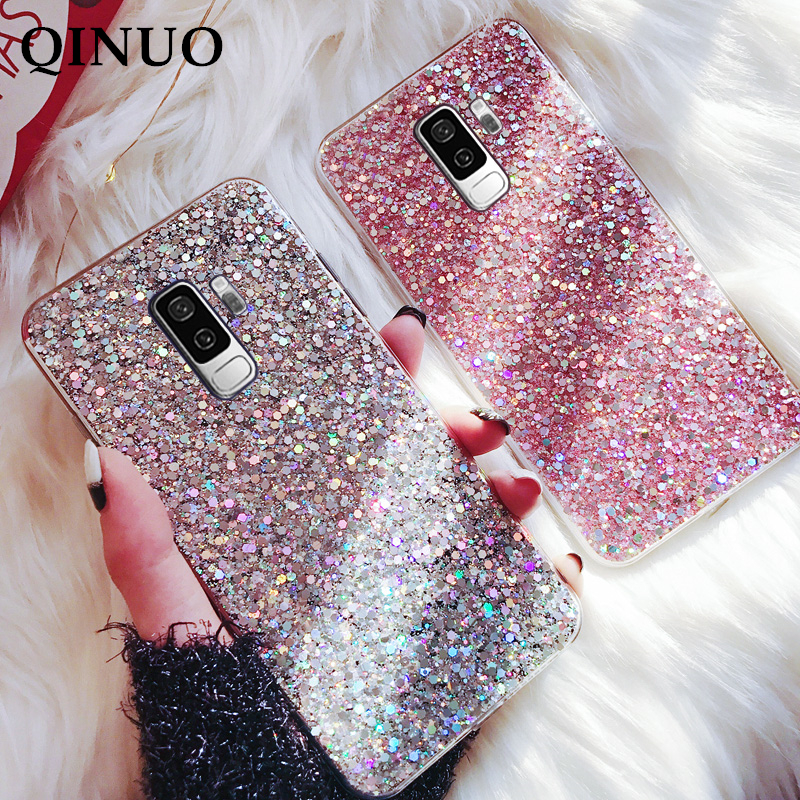 Crystal Bling Case For Samsung Galaxy S7 Edge S8 S9 S10 E Note 5 8 9 10 Plus Pro A30 A40 A50 A70 M10 M20 Glitter Silicone Cover