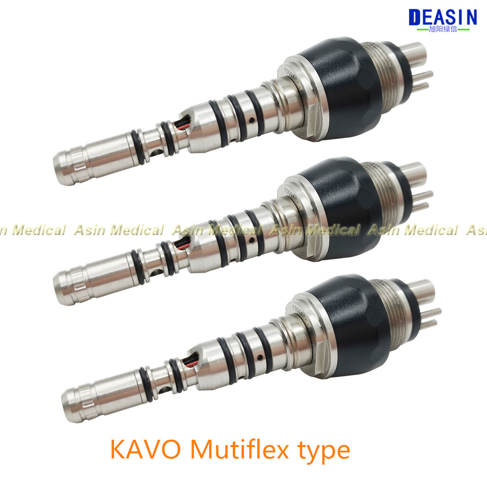 3 pcsx Kavo Multiflex Led 460 Coupler 6 holes Quick Coupling Coupler Adaptor Fit Kavo Dental Handpieces free shipping 7402051 24v 150w kavo america dental chair unit halogen bulb free shipping