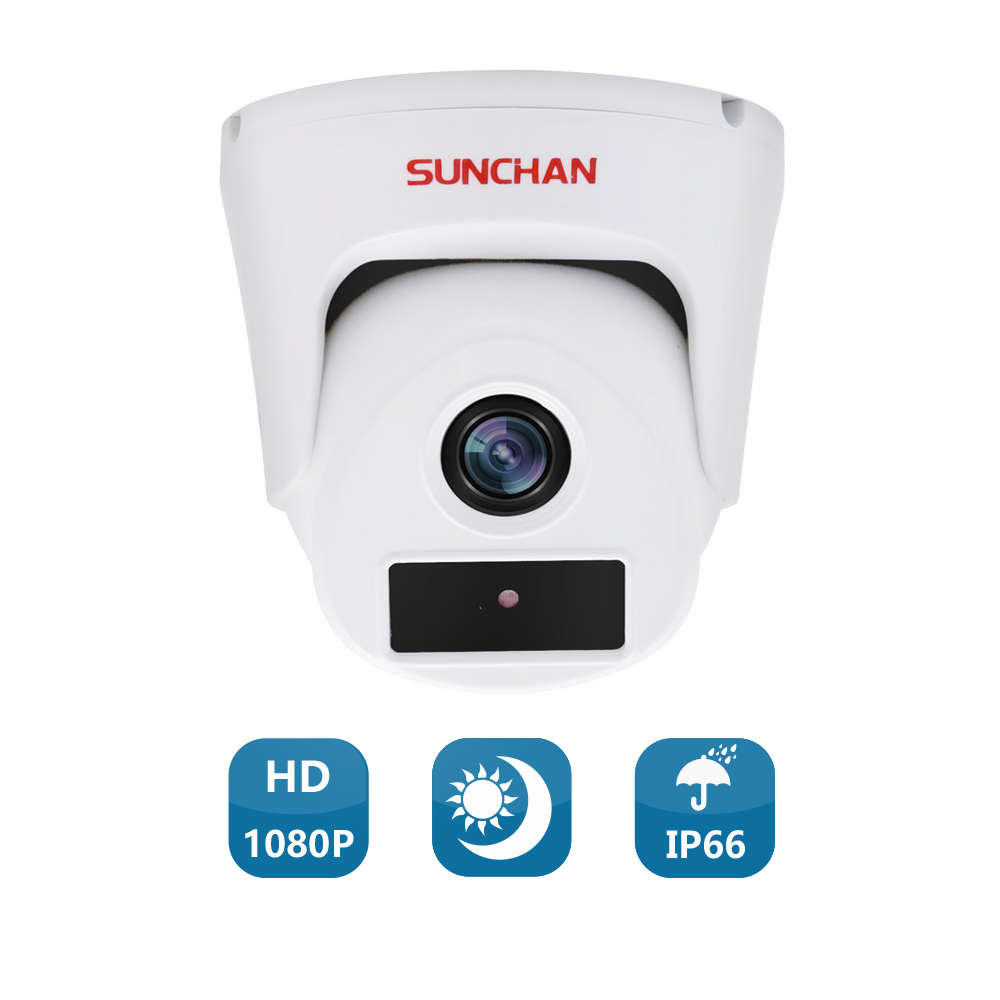 SUNCHAN 1/3'' Color CMOS 2.0MP AHDH 1080P AHD Camera CCTV IR Cut Filter Camera AHD 1080P Indoor Security Cameras