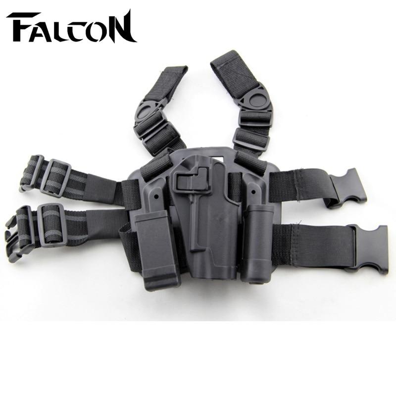 Military Holster For Colt 1911 FS CQC Coyote Black Tactical Leg Holster Gun Airsoft Pistol Belt Drop Holster