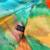 [BYSIFA] verde orange mulher praia cachecóis xale inverno super estrelas de grande porte 100% seda pura cachecol primavera outono cachecol capa