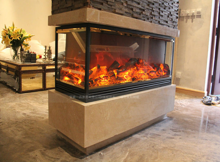 Three Sided Electric Fireplace Heater Insert Fireplace Irons