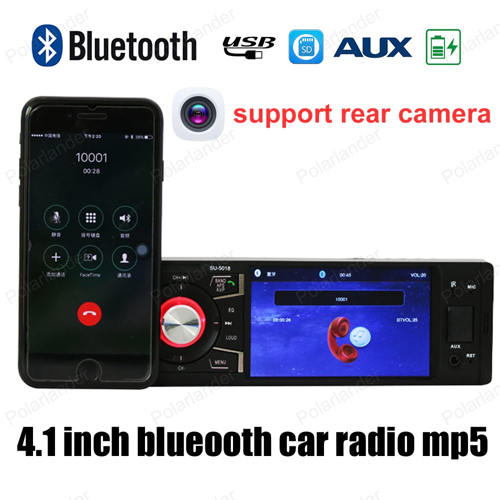 4 inch HD screen 1din Car Radio Support Bluetooth /FM USB / SD AUX in Stereo MP4 MP5 Support Rear Camera video Player