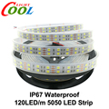 120 LEDs/m LED Strip 5050 DC12V Silicone Tube Waterproof Flexible LED Light Double Row 5050 LED Strip 5m/lot