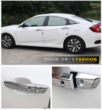 ABS Chrome Plating Car door outside handle decorative covers frame trims For New Honda Civic 10th 2016 2017 2018 styling