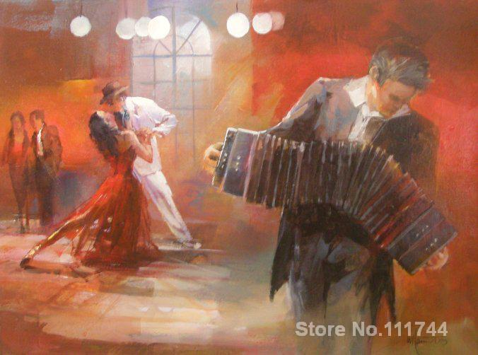 oil reproduction Tango in braun pub by Willem Haenraets Canvas Painting Hand painted High quality