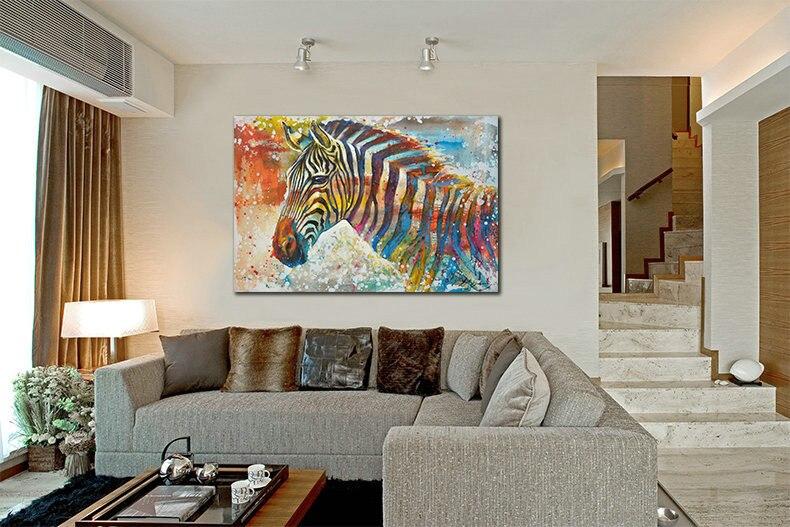 Wildlife Wall Art Print Plus 100% Hand Painted Zebra