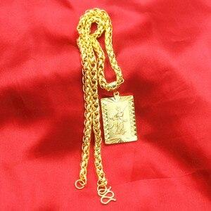 Image 3 - 誇張ロングチェーン 24 18k ゴールドワイド男性ジュエリービッグゴールドネックレス仏中国のドラゴントーテムのため男性