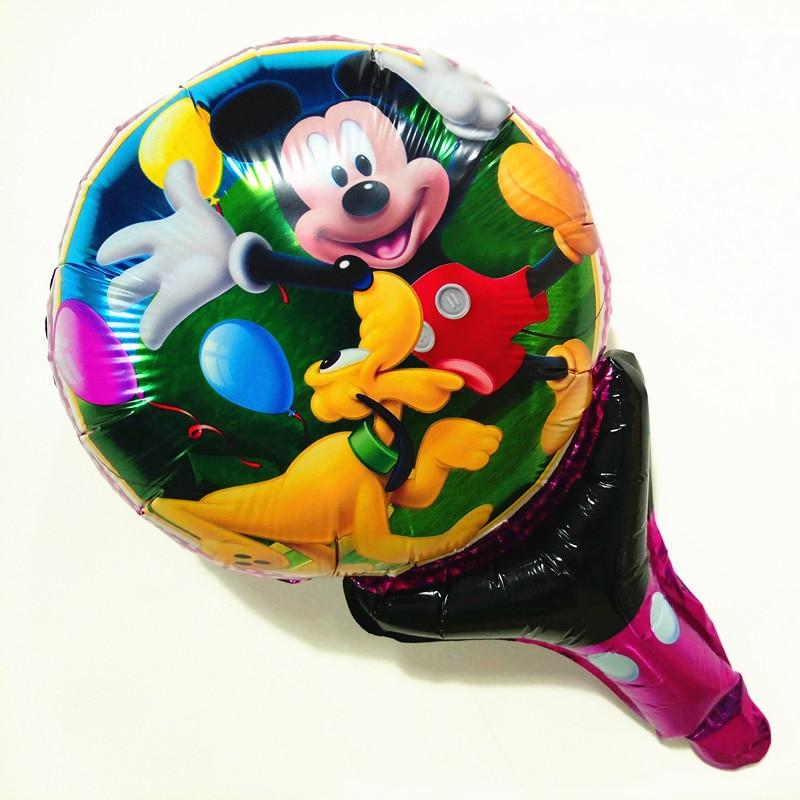 1pc Mickey Party Supplies Cheer Stick Decoration Kids Birthday Cartoon Hand Balloons