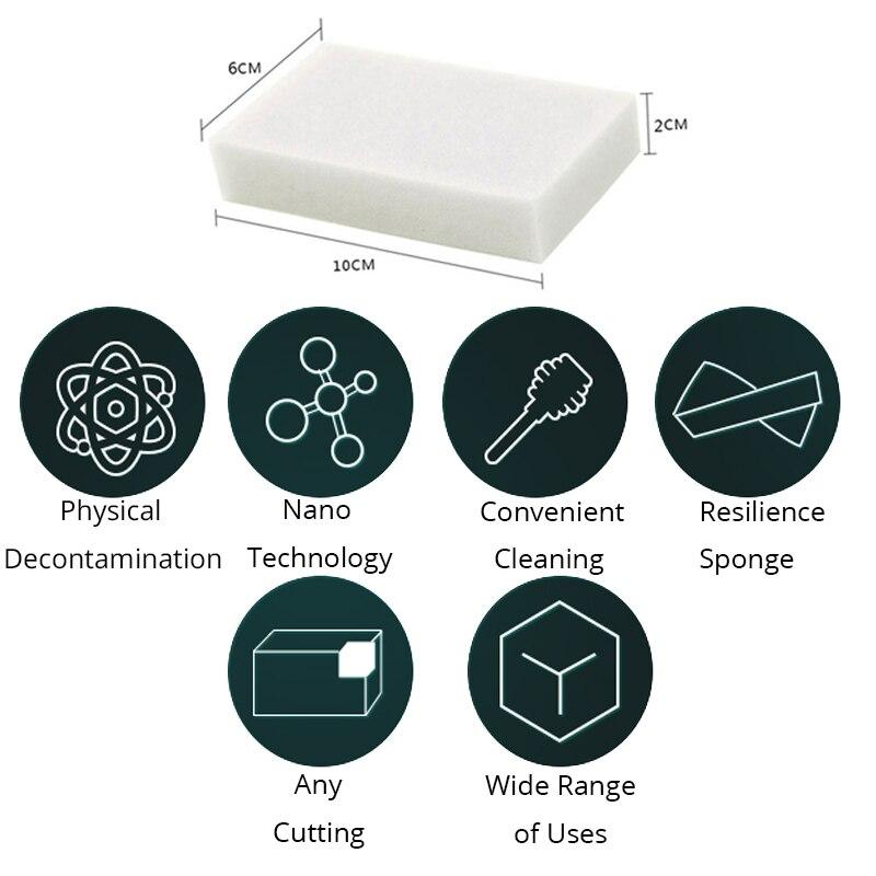 AKKOKI 100pcs/40pcs Nano cleaning melamine sponge Magic Sponge white magic eraser Kitchen Office Bathroom Cleaning